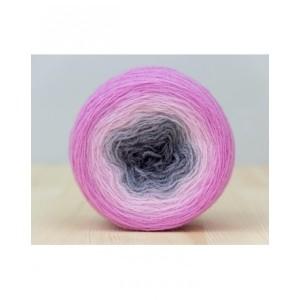 "Lace ""Fuchsia graphite"". Пряжа градиент из мериносовой шерсти"