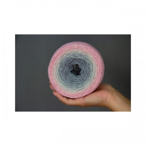 Пряжа Almerino градиент *Pink Gray gradient