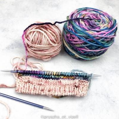 Как прятать концы пряжи в процессе вязания?>
