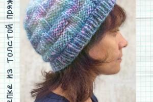 Теплая шапка из пряжи Nice