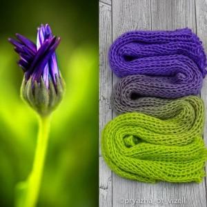Градиент Sock *Фиолетовый шартрез