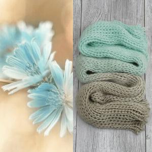 Градиент Sock *Песочно-бирюзовый