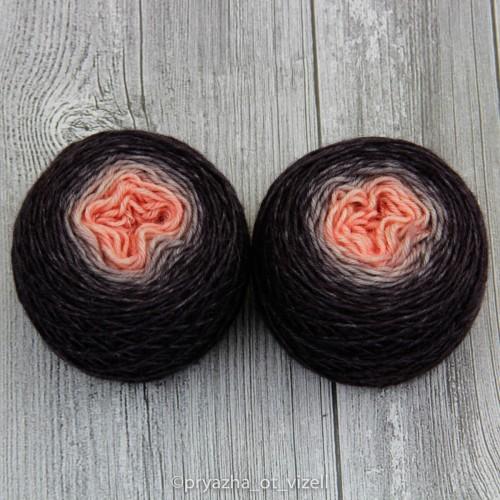 Градиент Sock *Шоколадно-персиковий