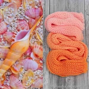 Градиент Sock *Оранжевый и нежно-розовый