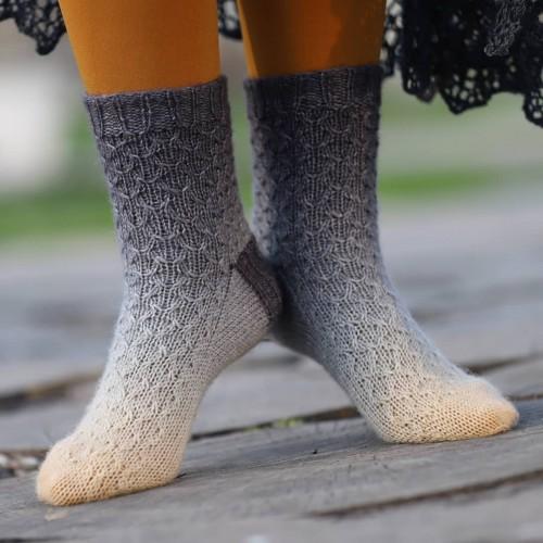 Градієнт Sock *Помаранчово-карбований