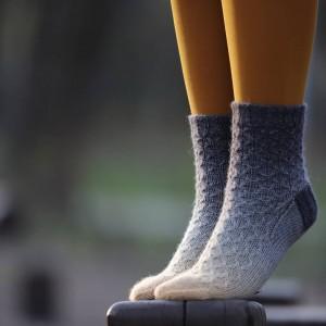 Градиент Sock *Оранжево-карбоновый