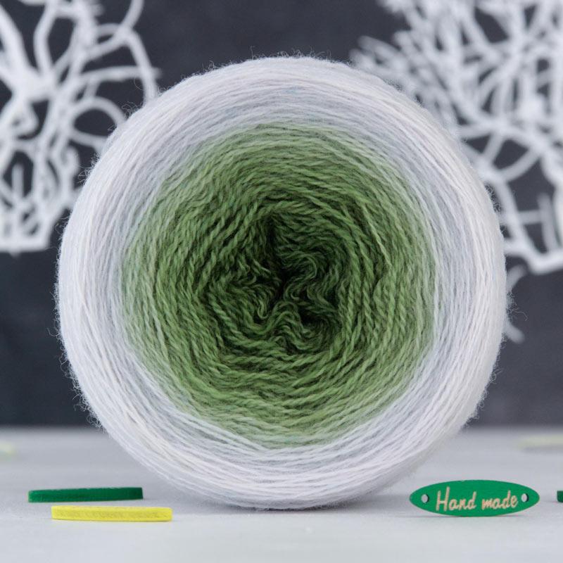 Пряжа Lace *Градиент Жемчужно-зеленый