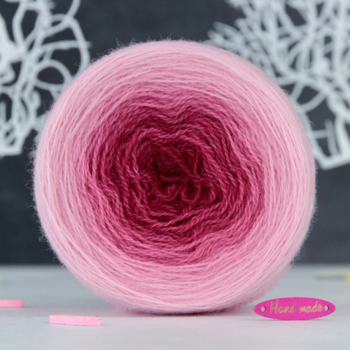 Пряжа Lace *Градиент Малиново-розовый