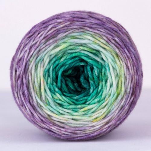 """Пряжа Major Градиент """"Emerald Lilac"""", 100% мериносовая шерсть экстрафайн"""